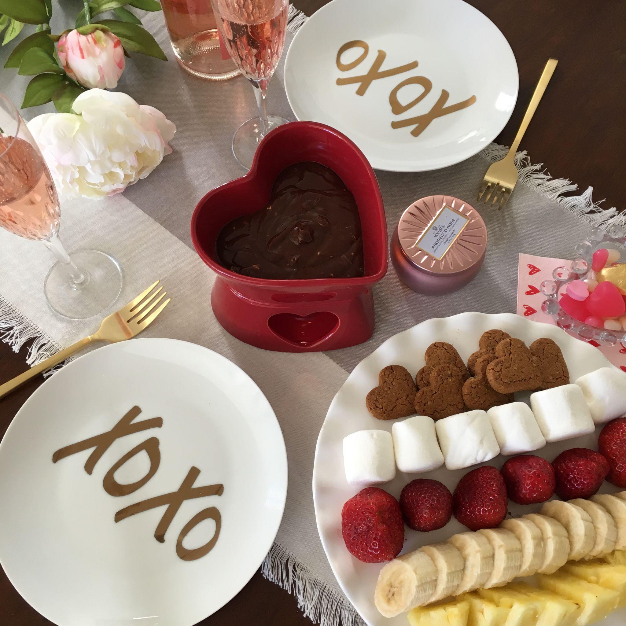 Valentine's Chocolate Fondue